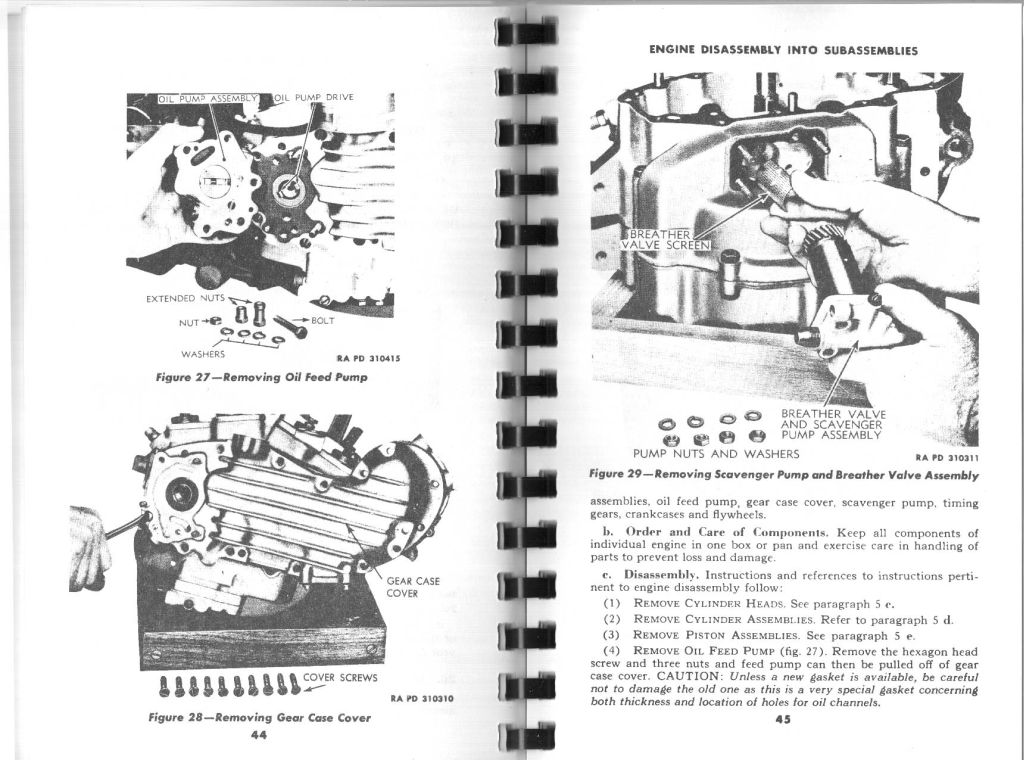 Chapter 3. Engine. Section I, Engine diassembly into sub