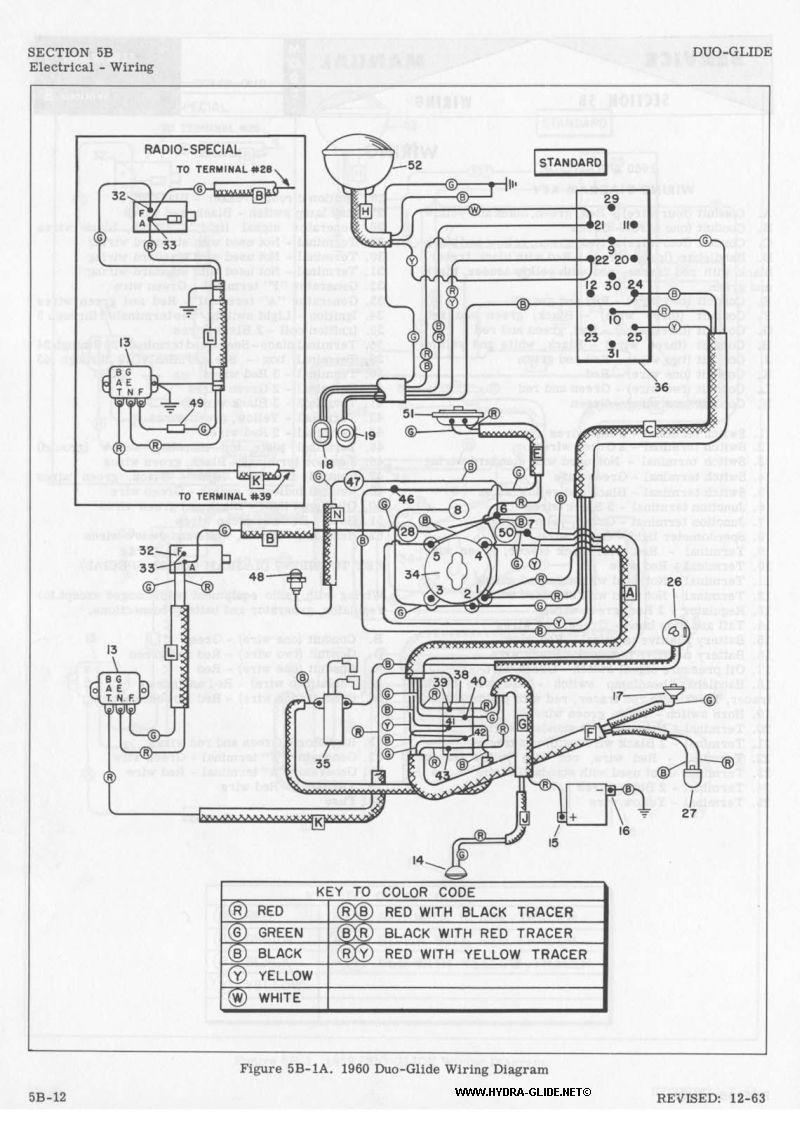 1960 Duo-Glide Wiring Diagram