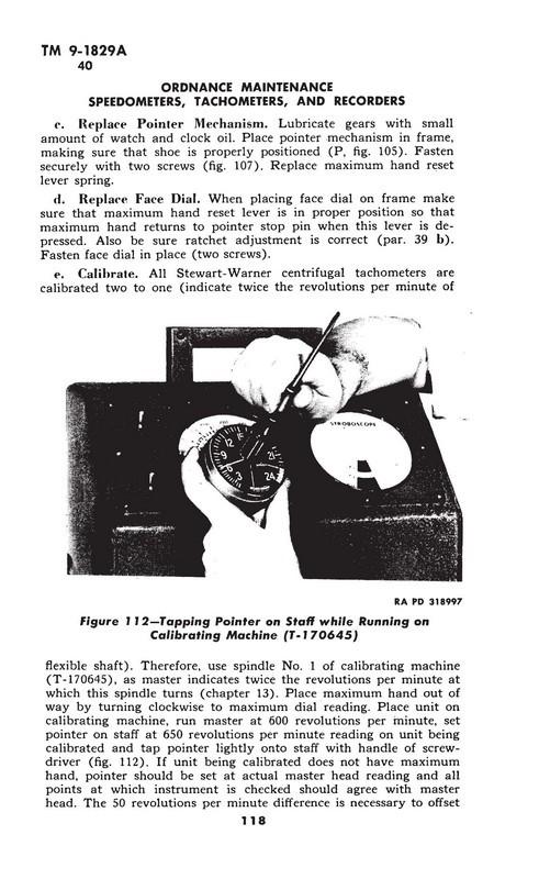 6. Stewart-Warner speedometers and tachometers, section III