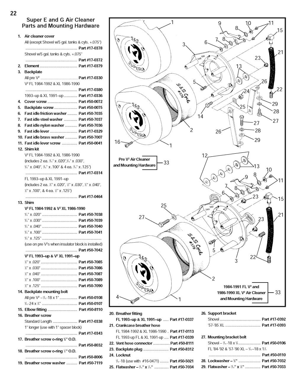 S&S Super E and G: Installation and Jetting Instructions