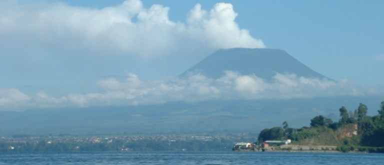 Classic Photo of Mt Nyiragongo from Lake Kivu