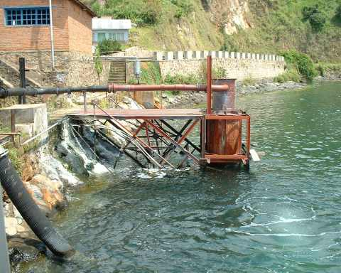 Photo of Gas Separator on the 1965 Gas Extraction Plant on Lake Kivu's Cap Rubone