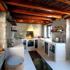 Islands Kitchen Tuscan Wall Clocks Holiday Home To Rent In Kala Pigadia, Hydra Island, Greece ...