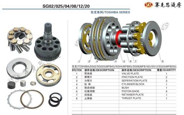 Запчасти к гидронасосам Toshiba серии SG02/025/04/08/12/20, MFB SWING MOTOR
