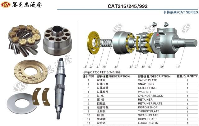 Запчасти к гидронасосам на Caterpillar серии CAT215-245-992