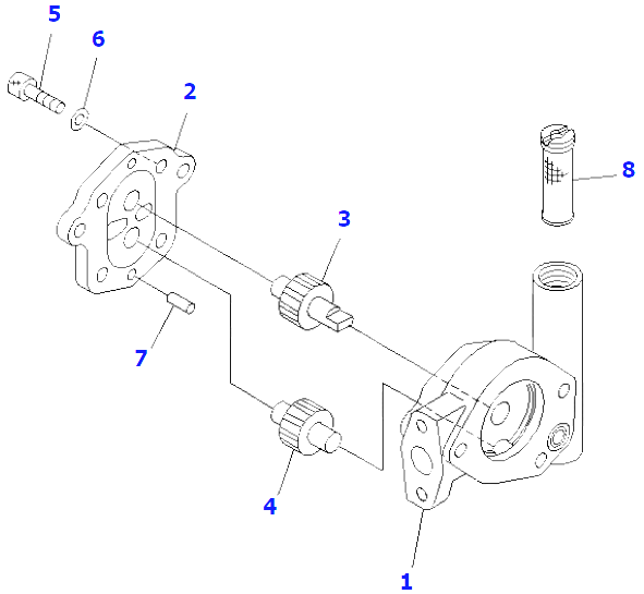 704-24-24420 Excavator Hydraulic Pump / Komatsu Hydraulic