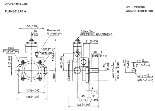 Variable Displacement Vane Pump VPVC-F12/F20 Series