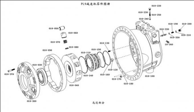 PLM9 Truck Mixer Speed Reducer Concrete Hydraulic Pump