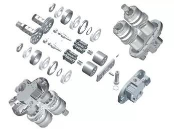 Ex220-3 Excavator Hitachi Hydraulic Pump Parts Hpv091