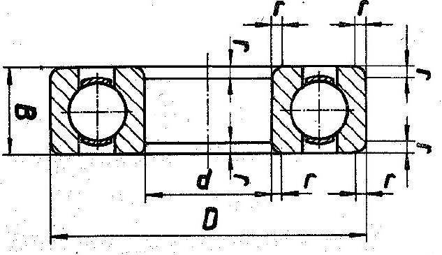 Abmessungen - Maßangaben bei Rillenkugellagern nach TGL 2981