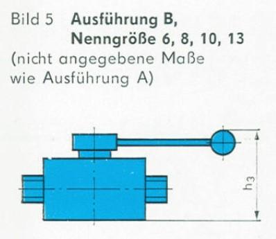 TGL 21575 - Abmessungen der Absperrventile Ausführung B