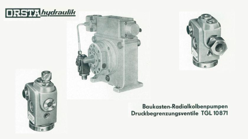 TGL 10871 - Druckbegrenzungsventile für Radialkolbenpumpen (einfacher Baukasten)