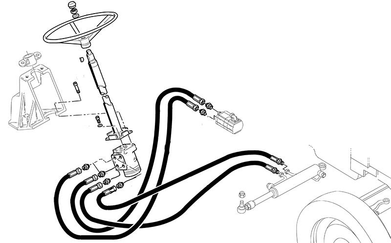 kit remplacement d'orbitrol pour tracteur CASE IH644 645