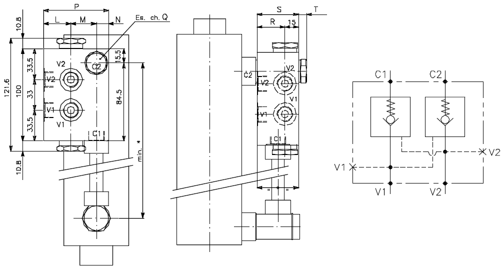 Clapets de blocage flasquables sur vérin hydraulique