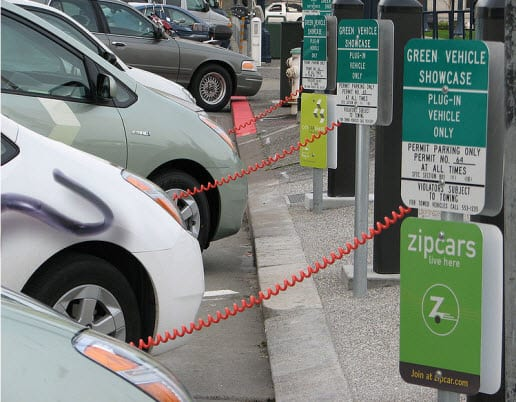 Bloomberg study shows the number of electric charging stations shadows the number of ethanol fuel stations in the U.S.
