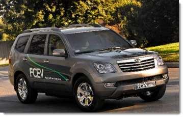 Hydrogen fuel powered cars by Kia