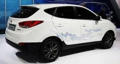 Hydrogen Fuel Hyundai Tucson ix35 hydrogen powered car