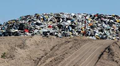 Landfill Gas - Garbage in landfill