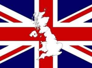 Hydrogen Fuel - Flag and Map Outline of UK