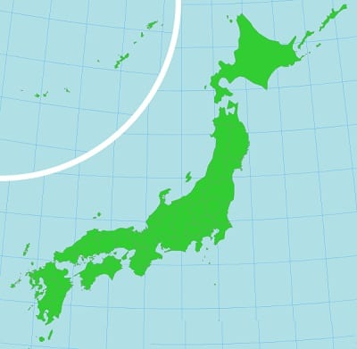 Climate Change - Map of Japan