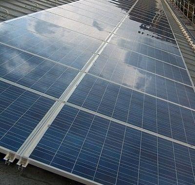Green Energy - Solar Panels on Roof