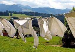 Polymer recycling technology - Clothing - Laundry hanging to dry