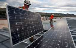 Solar power storage - Solar panels installation