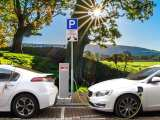 Green fuel - electric cars charging - clean transportation