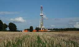 UK fracking site - Drilling Rig