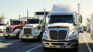 fuel cell trucks - image of tractor trailers