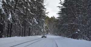 hydrogen fuel cells development - vehicle driving in winter