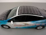 Solar-powered EV - Prius PHV demo model - Toyota