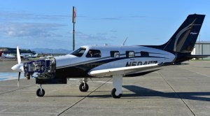 Hydrogen airplane - ZeroAvia prototype shown here powering a 6-seat Piper M-Class aircraft