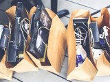Recycled goods - Brown paper shopping bags