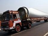 Wind turbine waste - turbine blade on truck