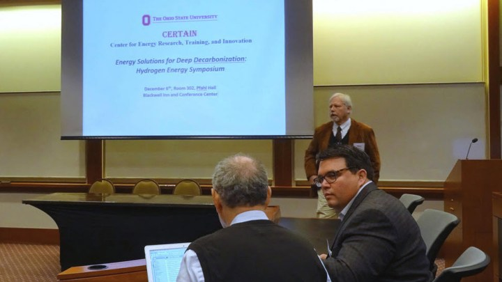 Researchers discuss natural hydrogen at deep decarbonization symposium at the Ohio State University