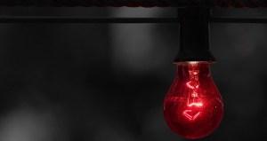 Australian hydrogen council - red light bulb - warning