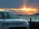 Mitsubishi sustainable hydrogen - Mitsubishi cars at sunset