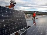 renewable enegy jobs - workers installing solar panels