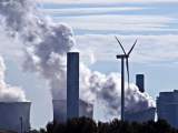 Coal power plant - Power plant and wind turbine