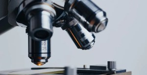 Polymer glass - science - research - microscope