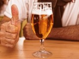 Renewable energy from Beer - Glass of Beer - thumbs up