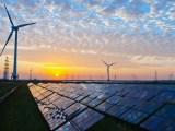 Solar and wind energy - wind turbines and solar panels