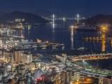 Japanese green hydrogen market - Ngasaki, Japan at night