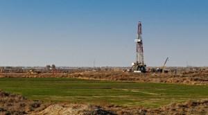 California Fracking Ban - oil rig in field