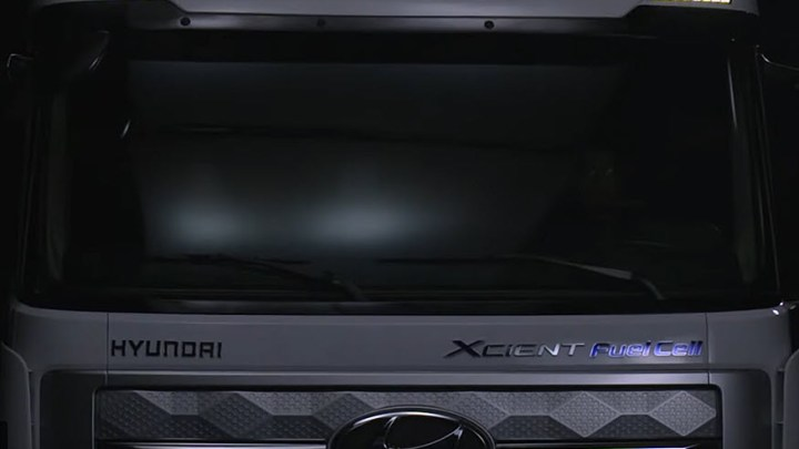Europe arrival of the Hyundai Xcient Fuel-Cell trucks premiered today (14 October 2020) in digital livestream