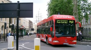 Toyota hydrogen bus - fuel cell bus - mercedes model