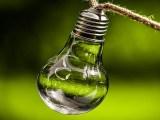 clean energy commitment - light bulb - green