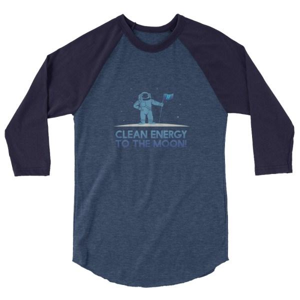 Astronaut Clean Energy 3/4 sleeve raglan shirt 3