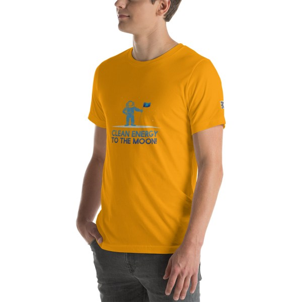 Clean Energy to the Moon Short Sleeve T-Shirt - Multiple Color Options 23